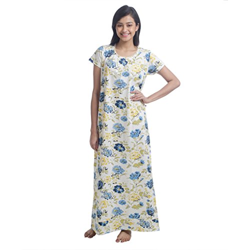 Nite Flite Women's Floral Cotton Nightgown