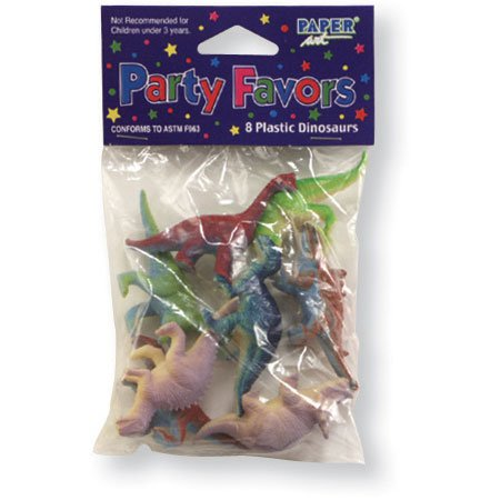 Dinosaur Assorted Plastic Party Favors, 8ct, Kid's Party Themes and Ideas - 1