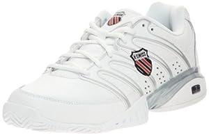 K-Swiss APPROACH II~WHT/BLK/SLVR~M Approach II-M - Zapatillas de tenis para hombre, color blanco, talla 40.5