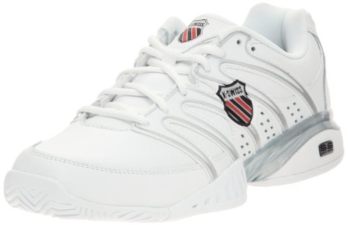K-Swiss Men'S Approach Ii Tennis Shoe,White/Black/Silver,10 M