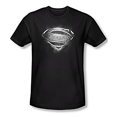 Superman Man of Steel Contrast Logo Slim Fit T-Shirt