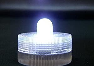Submersible Battery LED 10 Lights~WHITE~wedding~tea Light