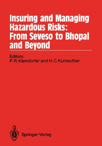 Insuring And Managing Hazardous Risks: From Seveso To Bhopal And Beyond front-837577