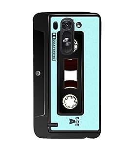 Vintage Cassette Blue 3D Hard Polycarbonate Designer Back Case Cover for LG G3 Beat :: LG G3 Vigor :: LG G3s :: LG g3s Dual