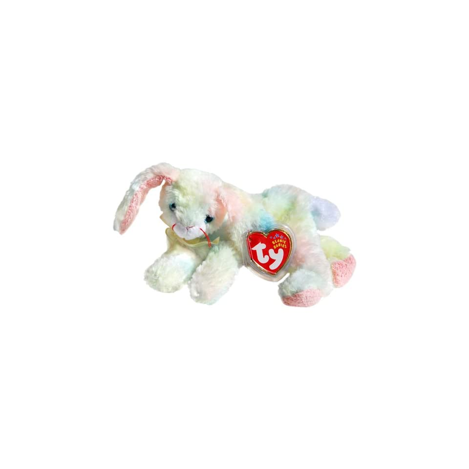 83e9d9b50bb Cottonball the Ty Dyed Pastel Nappy Easter Bunny Rabbit Ty Beanie Babies