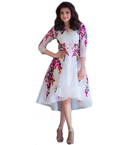 Pari Presents Goerges Fancy White Color Frock Type Suit