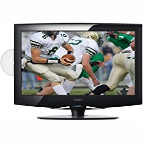 Coby TFDVD2295 22-Inch 720p Widescreen LCD HDTV/Monitor with DVD Player and HDMI Input (Black)