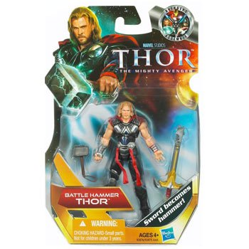 Thor: The Mighty Avenger Action Figure #01 Battle Hammer Thor 3.75 Inch