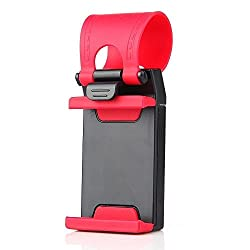 LipiWorld Car Steering Wheel Mobile Holder For Phones Up To 4.8 Inches - When You Use Your Phone To Navigate