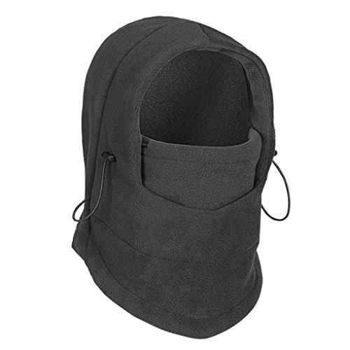 Dealtribe 6 IN 1 Winter Thermal Outdoor Fleece Neck Gaiter Balaclava Motorcycle Ski Full Face Windproof Mask Hood Hat Cap Gray (Full Fencing Suit compare prices)