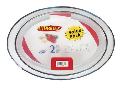 Marinex Value-Pack 2-1/2-Quart & 3.4-Quart Oval Baking Dish Set