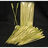 Happy Sales Tapered Heavy Bamboo Skewers 7 Inch 100 pcs
