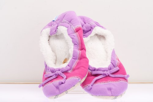 Snoozies Women'S Colorblock Ballerina Slippers - Orchid And Sangria - Small (5/6)