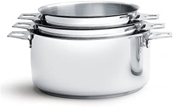 De Buyer 3491.03 'Twisty' Lot de 3 Casseroles-Faitouts - Ø 16/18/20 cm