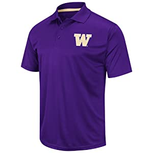 Washington Huskies Reflex Polo Shirt (Team Color) by Chiliwear LLC
