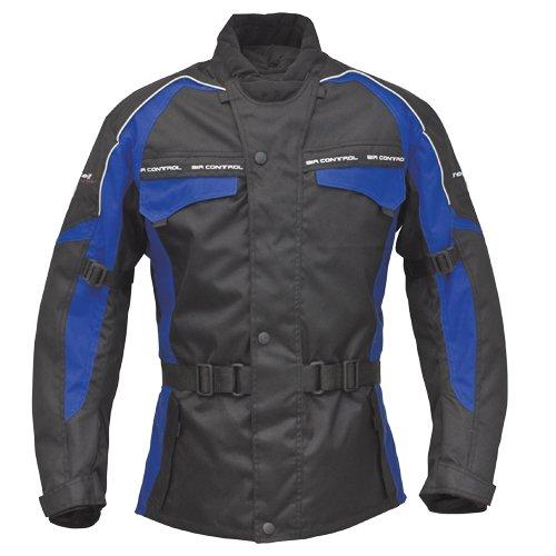 Roleff Racewear 7023 Blouson Moto Reno RO 70i, Noir/Bleu, M