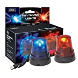 TT KC98009 USB-Powered Red and Blue Revolving Police Lights
