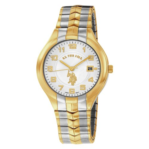 US Polo Assn. Men's USC80049 Two-Tone Analogue White Dial Expansion Watch