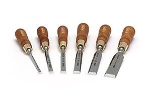 Set of Bevel Edge Chisels Premium - 6 pieces