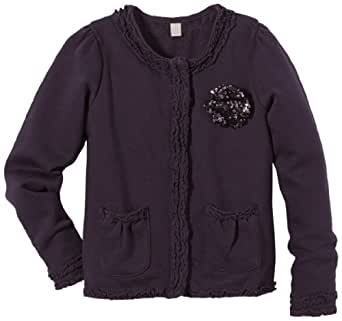 ESPRIT Pull Col ras du cou Manches longues Fille - Violet - Violett (503 NIGHT SHADE PURPLE) - FR : 8 ans (Taille fabricant : 128/134)