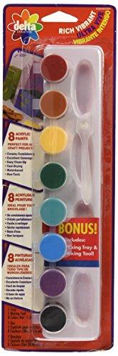 Delta Acrylic Paint Pot Set Vibrant Colors - 8 Colors 029340056M