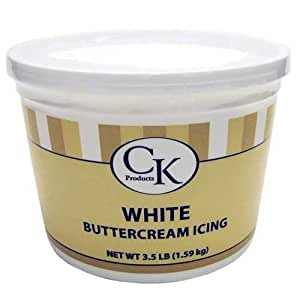 CK Products White Buttercream Icing , 3.5 Lbs