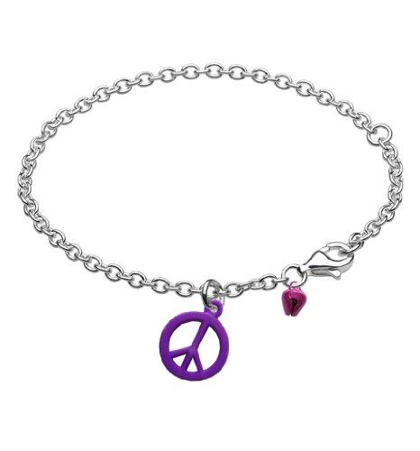 Kids Friendship Peace Bracelet Anklet with Bell Grape