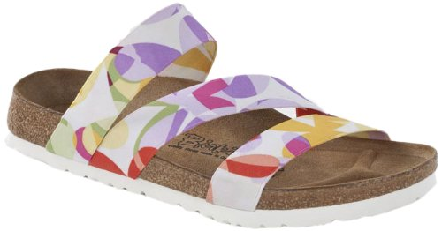 Birki ANTIGUA STRETCH Sandals Womens White Weià (COLORFUL GARDEN) Size: 5 (38 EU)