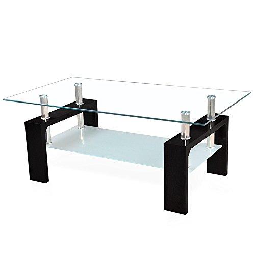 Corium Couchtisch Wohnzimmertisch 110 X 60 45 Cm Glasplatte