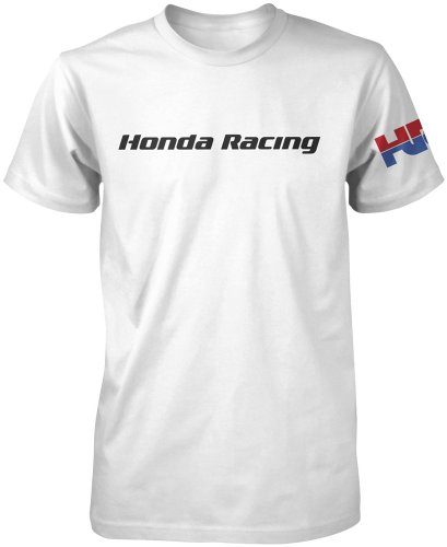 Honda Collection HRC White Short Sleeve T-Shirt, Gender: Mens/Unisex, Primary Color: White, Size: Lg 54-7418 (Honda Hrc compare prices)