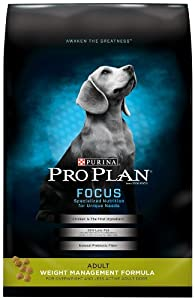 Purina Pro Plan Dry Adult Dog Food, Weight Management Chicken Formula, 34-Pound Bag