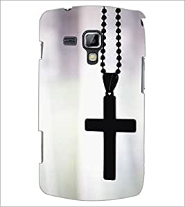 PrintDhaba Cross D-1964 Back Case Cover for SAMSUNG GALAXY S DUOS S7562 (Multi-Coloured)