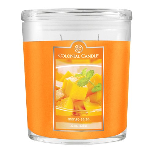 Colonial Candle 22-Ounce Scented Oval Jar Candle, Mango Salsa (Colonial Candle Mango Salsa compare prices)