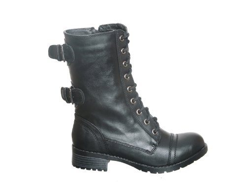 Women's Military Combat Fashion Ankle Calf Boots