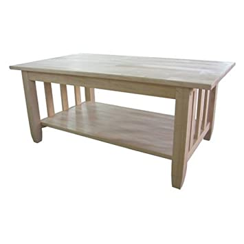Whitewood Mission tall coffee table -Occasional Collection - International Concepts - BJ6TC