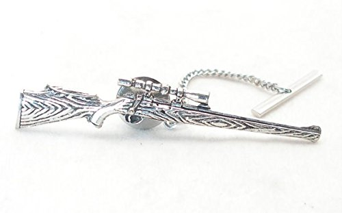 Hunting Rifle Tie Pin In Fine English Pewter (Gift Boxed)