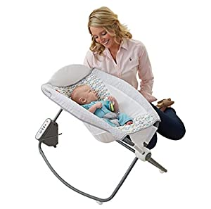 Fisher-Price Newborn Auto Rock 'n Play Sleeper, Aqua Stone Fashion