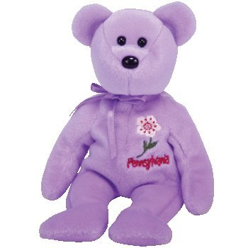 TY Beanie Baby - PENNSYLVANIA MOUNTAIN LAUREL the Bear (Show Exclusive) - 1