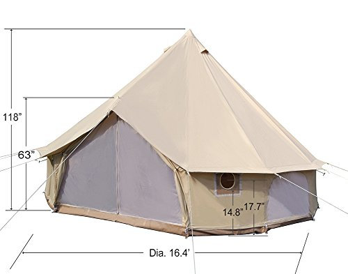 $569.00 ...  sc 1 st  Gl&ing Women & Dream House Diameter 5m Big 4 Season Canvas Cabin Waterproofing ...