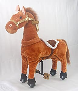 UFREE Ponycycle, Rocking Horse Ponycycle for Kids 2-5 Years, Height 35'',Ride on and turning, Giddy up Go Go Go