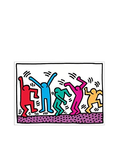 ArtopWeb muurschildering Haring Senza Titolo 50x70 cm