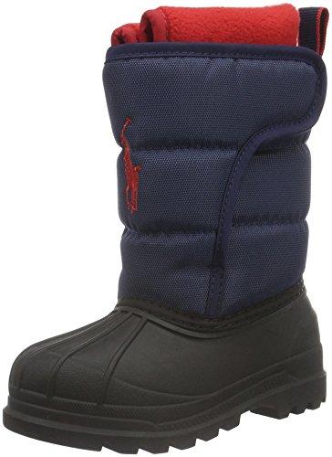 Ralph LaurenHamilten II EZ - Stivali a metà gamba con imbottitura pesante  Unisex - Bambini , Blu (Blau (Navy Heavy NYLON)), 25 EU