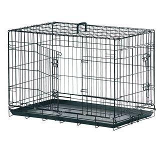 Hunde-Transportbox-Transportkfig-Drahtbox-Schwarz-Gre-XXL-120x76x82CM
