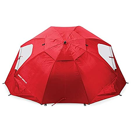 On the sidelines or at the beach, the SKLZ Sport-Brella gives you instant protection from the sun, rain, and wind with its domed shape, side flaps and 125 SPF. It sets up in just three seconds and fits the family or the team.