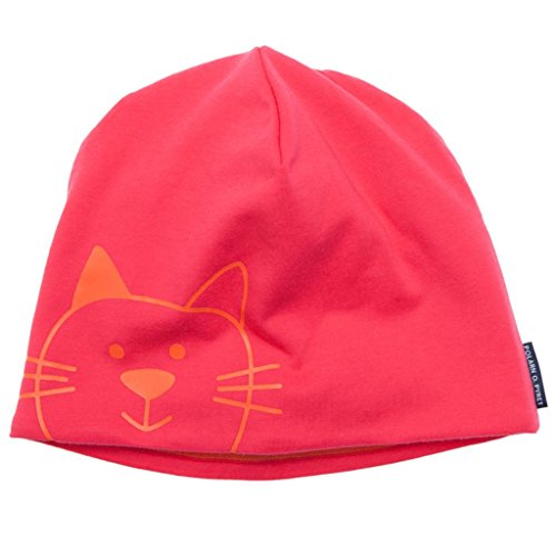 POLARN O. PYRET HAPPY BUNNY FLEECE LINED ECO CAP (2-6 YRS) - 2-9 years/Pink rouge