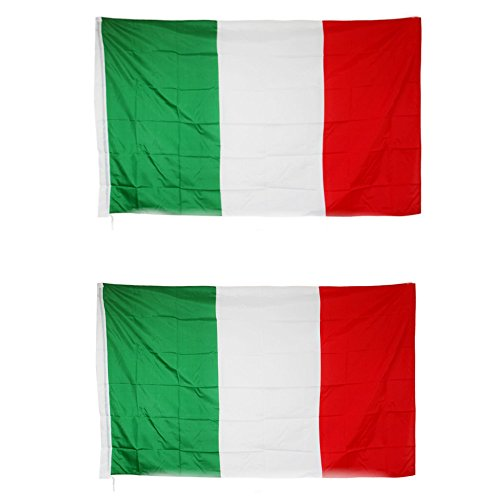 QUMAO - 2 PZ Bandiere Italia, Italy Nation Flags (150x90cm)