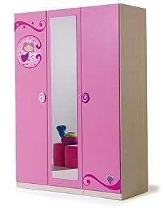 Girls fairy princess three door wardrobe children 39 s for Amazon uk fairy doors