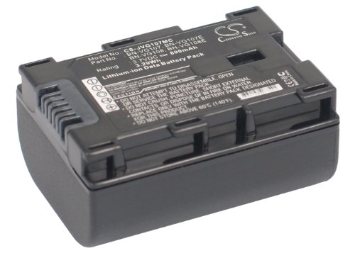 890Mah Battery For Jvc Gz-E200Bu, Gz-E200Ru, Gz-Hm650Bu