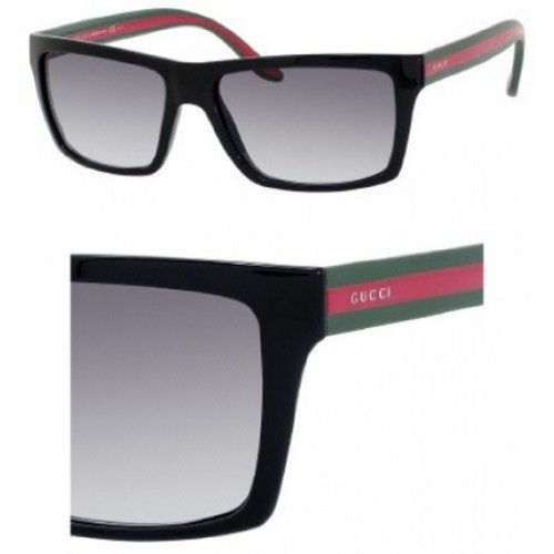Gucci Sunglasses - 1013 / Frame: Shiny Black Lens: Gray Gradient