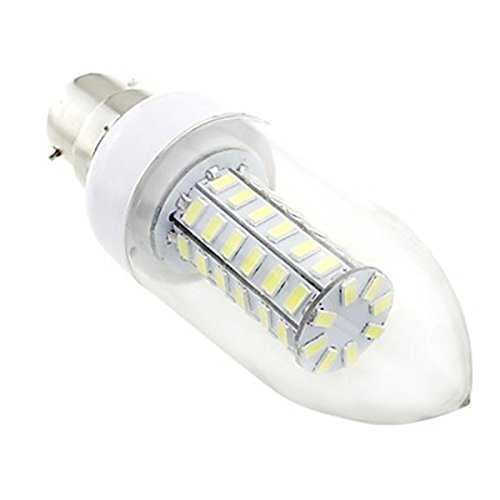 Generic B22 7W Led 56X5730 Smd 700Lm 6500K White Light Clear Cover Candle Bulb Lamp (Ac 220V~240V)